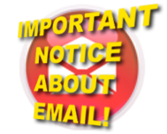 Important notice about email!